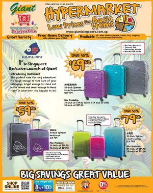 Low Prices On Luggage At Giant Offers Valid From July 10 23 201569672 69672