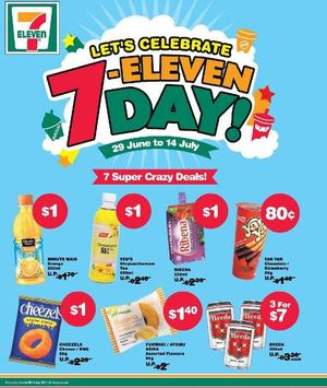 Lets Celebrate 7 Eleven Day Offers Valid From June 29 To July 14 201569692 69692