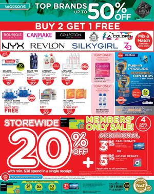 Top Brands Up To 50 Off At Watsons Offer Valid Till July 15 201569696 69696