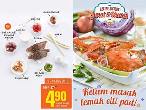Ketam Masak Lemak Cili Padi At Aeon Big Valid From July 9 10 201569697 69697