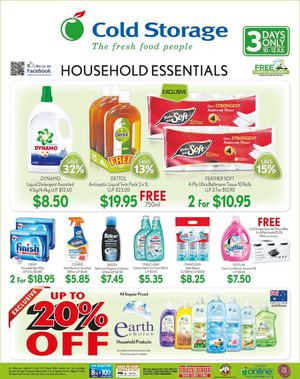 Household Essentials At Cold Storage Offers Valid From July 10 12 2015 69704