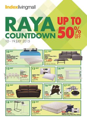 Index Living Mall Raya Countdown Up To 50 Off At Aeon Valid From July 10 19 201569710 69710