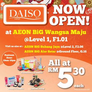 Daiso Japan Now Open At Aeon Big Wangsa Maju Offer Valid While Stocks Last 69725