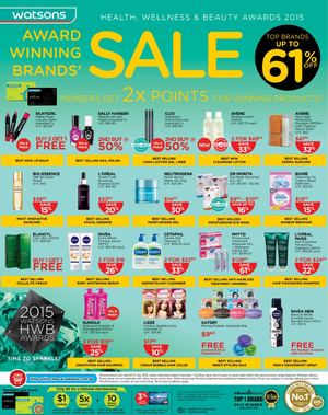 Top Brands Up To 61 Off At Watsons Offer Valid From Now Till July 15 201569734 69734