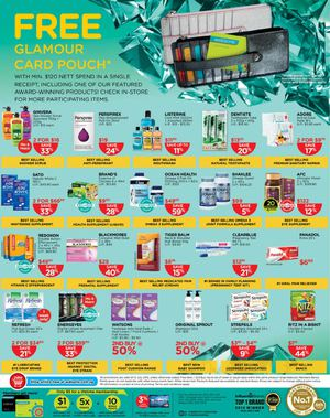 Free Glamour Card Pouch With Minimum 120 Nett Spend At Watsons Offer Valid Till July 15 2015 69735