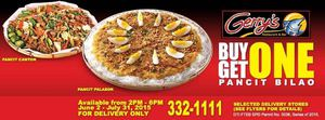 Buy One Get One Pancit Bilao At Gerrys Restaurant And Bar Valid Till July 31 2015 69816