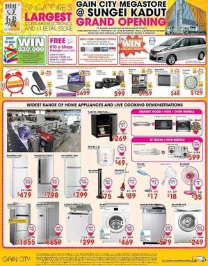 Gain City Grand Opening At Sungei Kadut Offers Valid While Stocks Last69845 69845