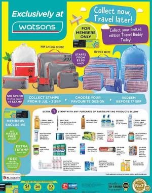 Collect Your Limited Edition Travel Buddy Today At Watsons Collect Before September 3 201569846 69846
