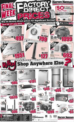 Factory Direct Prices On Home Appliances At Harvey Norman Valid From Now Till July 17 201569855 69855