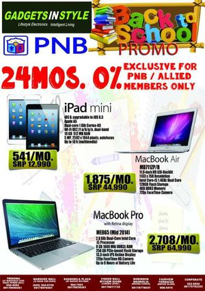 Back To School Promo At Gadgets In Style Valid While Stocks Last 69866