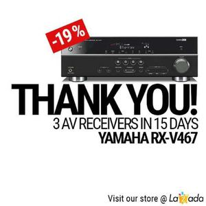 Enjoy 19 Off On Yamaha Rx V467 At 5th Avenue Electronic City While Stocks Last 69861