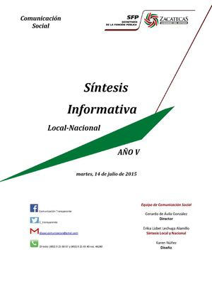 Síntesis Local Nacional 14 Julio 2015