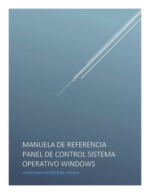 Manual De Refencias Panel De Control