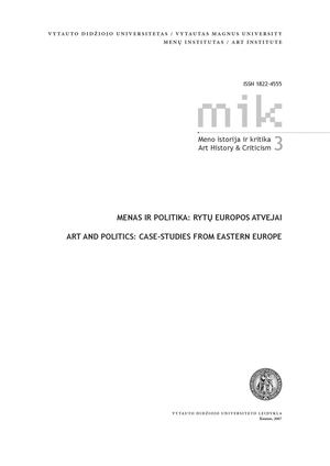 Art And Politics Case Studies From Eastern Europe