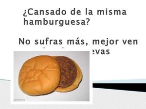 Cartel Hamburguesa