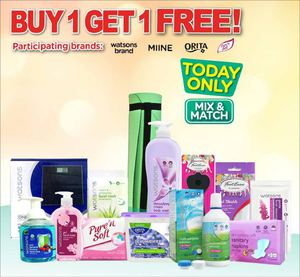 Buy 1 Get 1 Free At Watsons Offer Valid For Today Only July 15 2015 69894