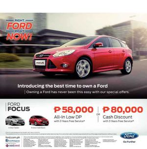Introducing Ford Focus With All In Low Dp From P58000 Valid While Units Last 69902