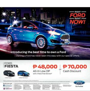 Introducing Ford Fiesta With All In Low Dp From P48 000 Valid While Units Last 69903