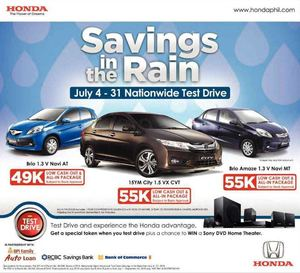 Savings In The Rain At Honda Nationwide Test Drive From July 4 31 2015 69904