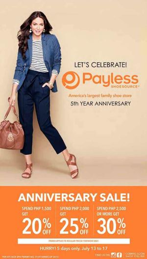 Anniversary Sale At Payless Shoesource From July 13 17 2015 69908