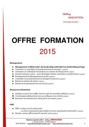 Formations Challenge Innovation2015
