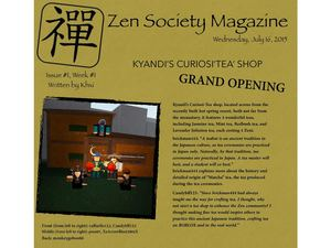 Zen Magazine, Week 1, Issue 1