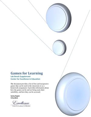 Game Resource Guide For Teachers