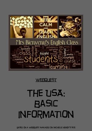 THE USA- a webquest for beginners with answer keys