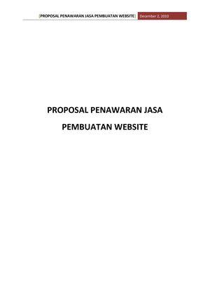 Calameo 69267759 Proposal Penawaran Jasa Pembuatan Website