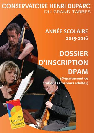 CHD 2015 2016 Dossier Inscription Dpam + Annexes