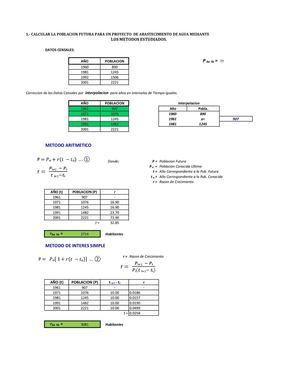 Calaméo - 241504769 Poblacion Futura Metodos De Calculo Poblacional