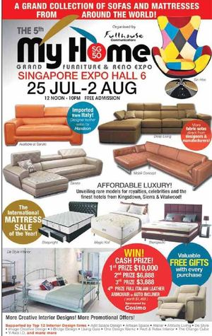 My Home Grand Furniture Reno Expo At Singapore Expo Hall 6 From July 25 To  August