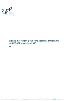 L'engagement actionnarial – 2015