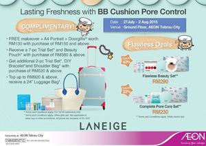 Lasting Freshness With Bb Cushion Pore Control At Aeon Tebrau City From July 27 To August 2 201570612 70612