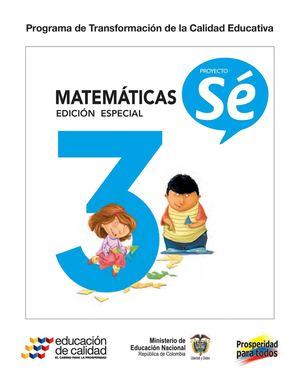 Calaméo - Proyecto Se 3 Matematicas Estudiantes