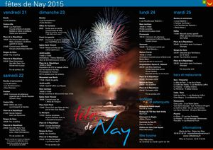 Fetesde Nay Programme 2015