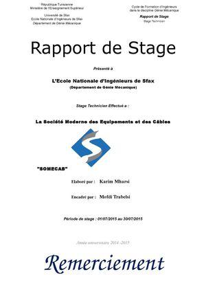 Calam o rapport somecab - Rapport de stage en cuisine ...
