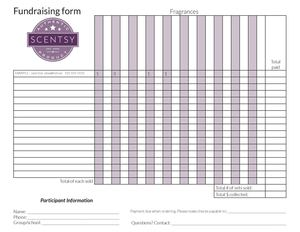 calaméo fundraising spreadsheet