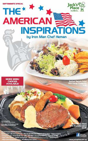 The American Inspirations By Iron Man Chef Herman At Jacks Place While Stocks Last 72151