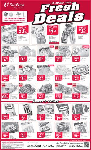 Fresh Deals At Fairprice Offers Valid From September 10 16 201572210 72210