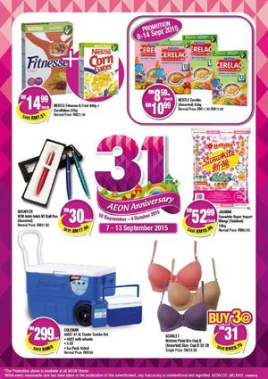 31th Anniversary Special Promotion At Aeon From Now Till September 13 2015 72298