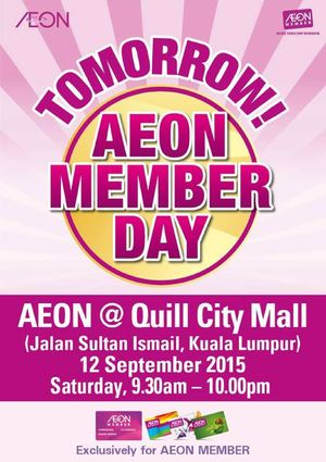 Aeon Member Day At Aeon Quill City Mall On September 12 2015 72308