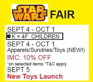 Star Wars Fair At Isetan Klcc Offers Valid From September 4 To October 1 2015 72321
