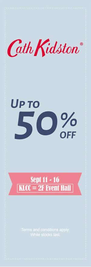 Cath Kidston Fair Up To 50 Off At Isetan The Gardens From September 11 16 2015 72323