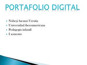Portafolio Digital Nubelly