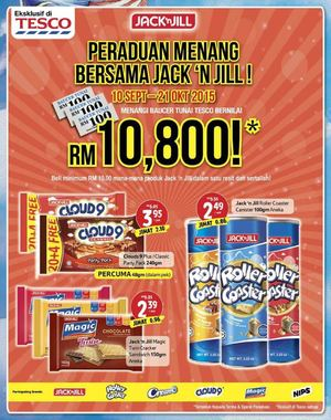 Peraduan Menang Bersama Jack N Jill At Tesco Offers Valid Till October 21 2015 72337