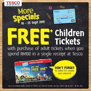 Get Free Children Tickets At Tesco From September 10 23 2015 72343