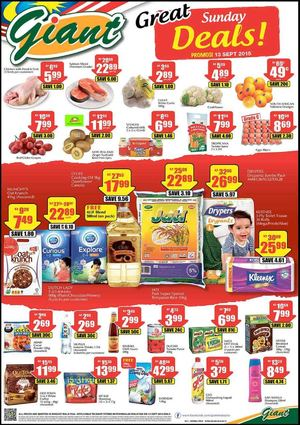 Great Weekend Deals At Giant Offer Valid On September 13 2015 72361