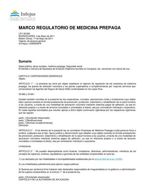 Marco Regulatorio De Medicina