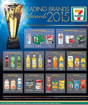 Leading Brands Awards 2015 Available At 7 Eleven Offer Valid Till October 6 2015 72383